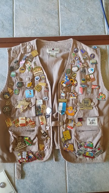 Our pin vest is a cost-effective way of buying souvenirs and cherising our memories