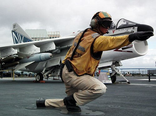 A-7 Corsair II on USS Midway