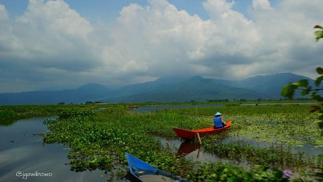 Rawa Pening Lake in Ambarawa Central Java.
