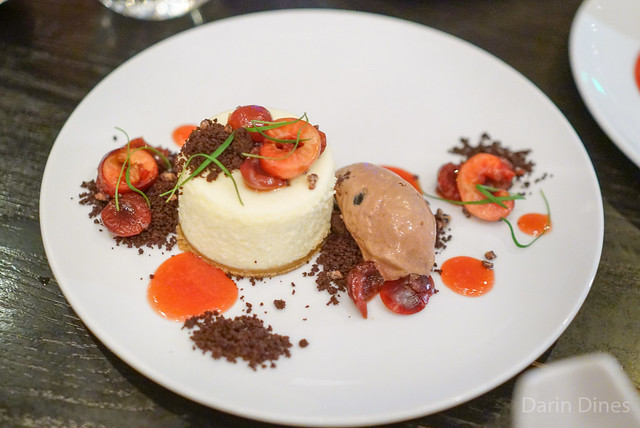 ... CHEESECAKE brandied cherries, candied cocoa nibs & black forest gelato