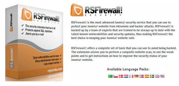 RSFirewall! v2.10.2 – The Most Advanced Security Extension For Joomla 3.x