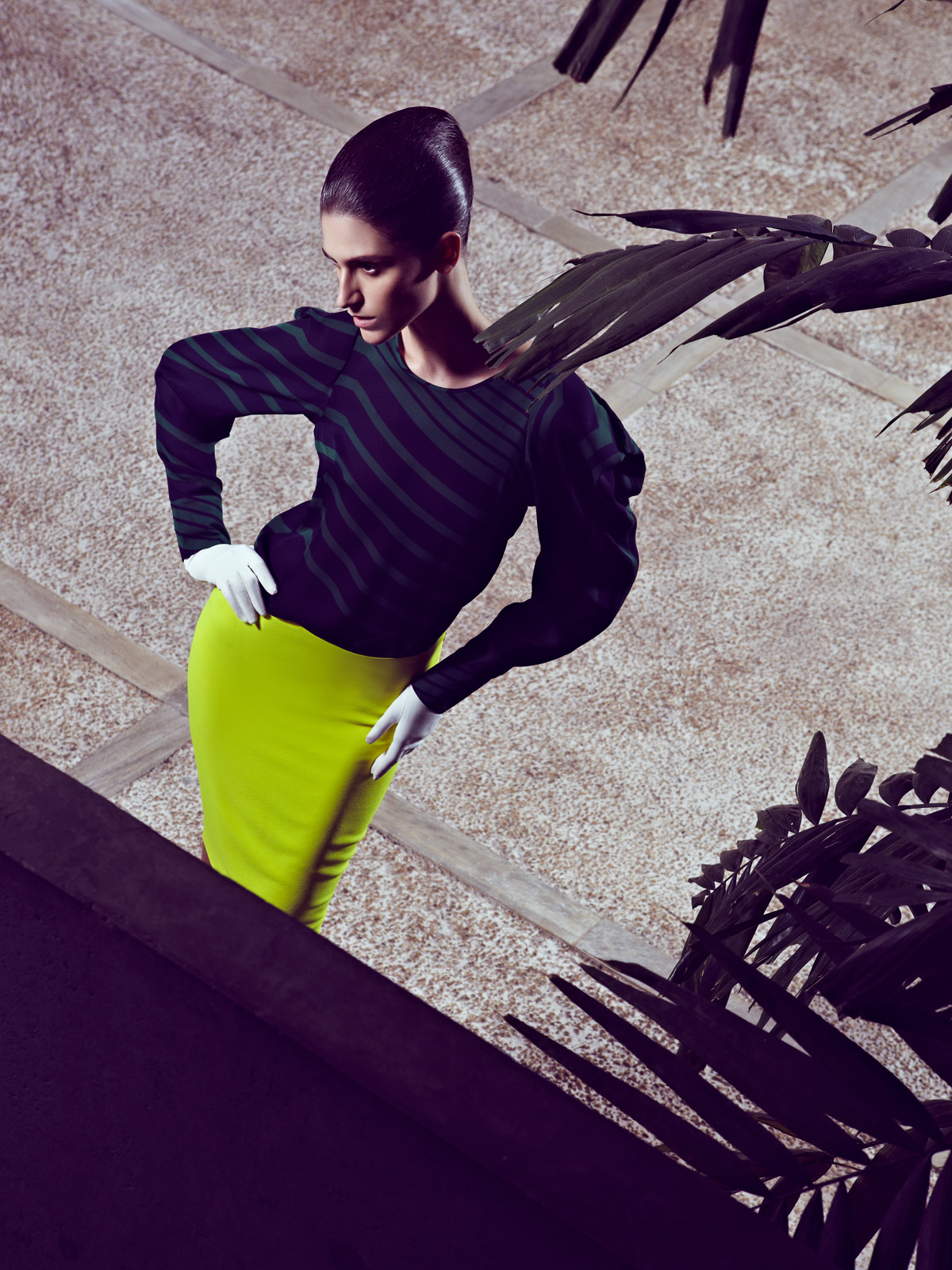 Daiane Conterato by Zee Nunes (Lady Liberty - Elle Brazil February 2012)