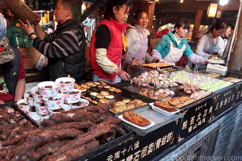 A segment of the street food area