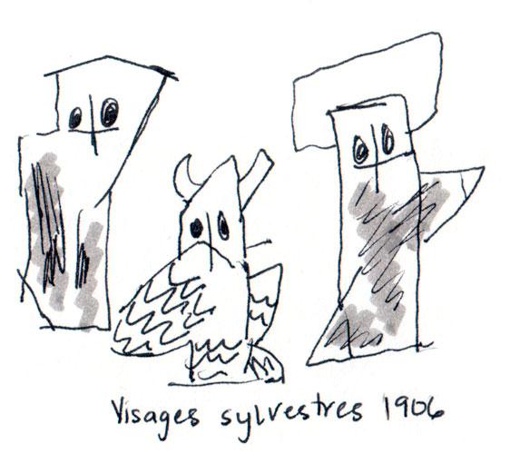 Visages Slyvestres – Feiniger