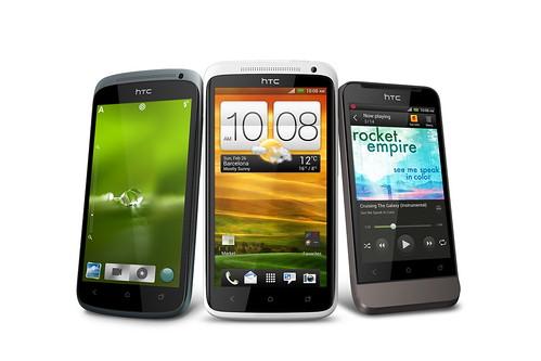 HTC ONE系列震撼登場。(左起:HTC One S、HTC One X、 HTC One V) (2)