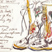 EcoChic Sakroots Boots, watercolor by Rosemary Connelly