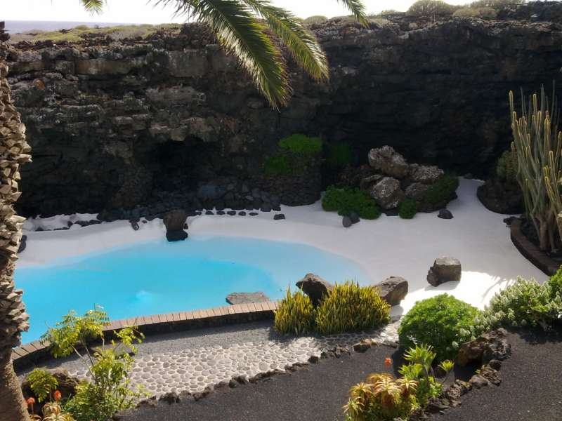 Piscina Jardines Jameos del Agua en Lanzarote 17