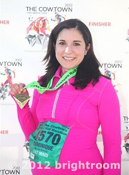 Official Cowtown Half Finish Line Photo