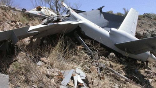 A US drone crashed at Halane, Somalia on February 29, 2012. Scores have been killed in the Horn of Africa nation by the Pentagon and the CIA. by Pan-African News Wire File Photos