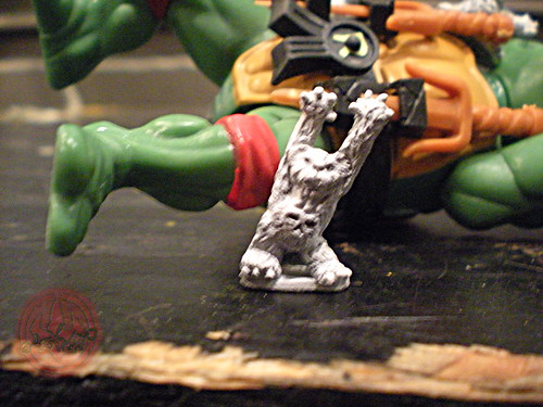 "Dark Horse Miniatures :: TEENAGE MUTANT NINJA TURTLES - ""The Terror Bears"" { 15 mm } vii / .. RAWWR !!  (( 1986 ))"