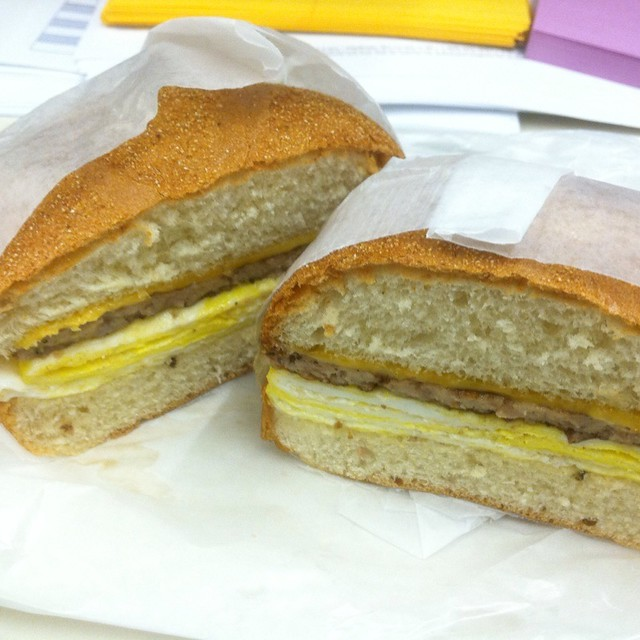 Sausage, Egg And Cheese Sandwich @ West Wing Cafe | Flickr - Photo ...