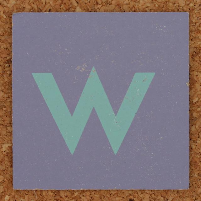 Cardboard green letter w | Flickr - Photo Sharing!