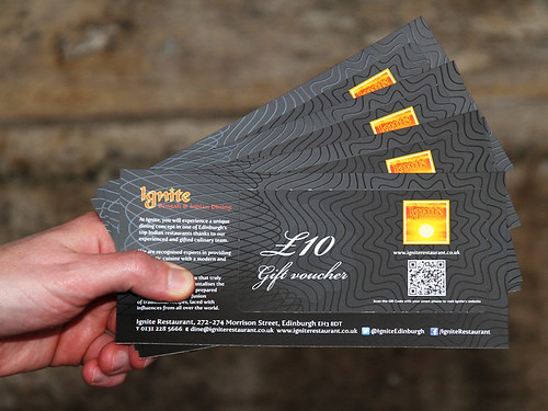 Available In GBP10 Denominations The Vouchers Can Be Bought Either Restaurant Or Over Phone 0131 228 5666 And Well Post Them Out