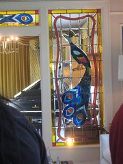 stained glass peacock at Graceland