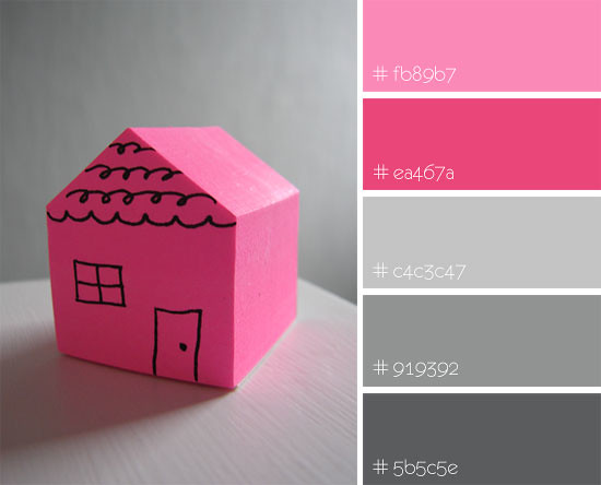 Color inspiration: pink home