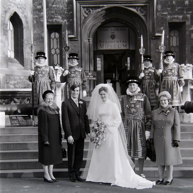 of London wedding 1970