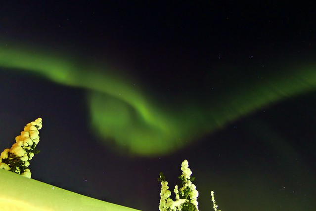 Auroras Boreales en el cielo de Finlandia