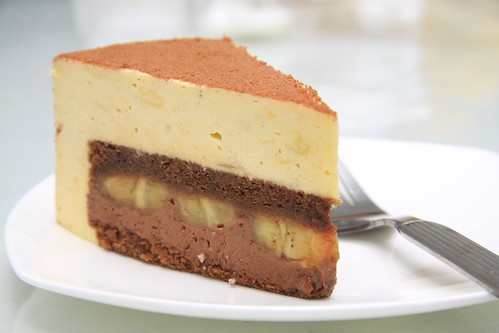 Durian Banana Chocolate Mousse Cake