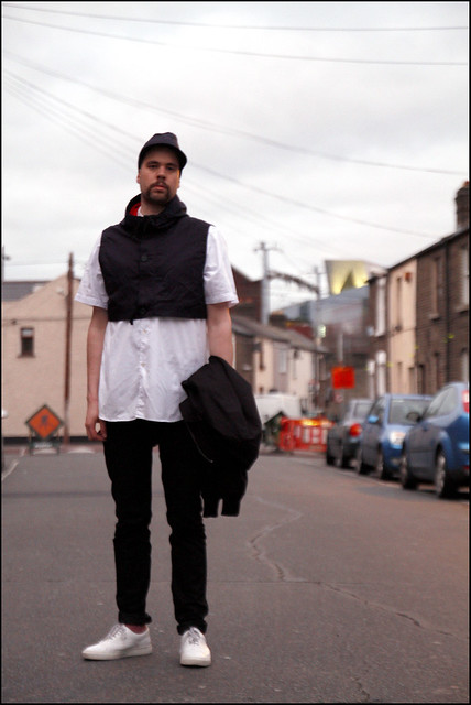 Tuukka13 - Marni at HM Asymmetrical Hat And Cropped Hooded Vest On Top of Supreme Shirt Meets Rick Owens Bomber Jacket - 1