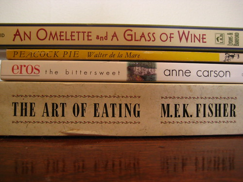 Three-course meal (book spine poems #3)