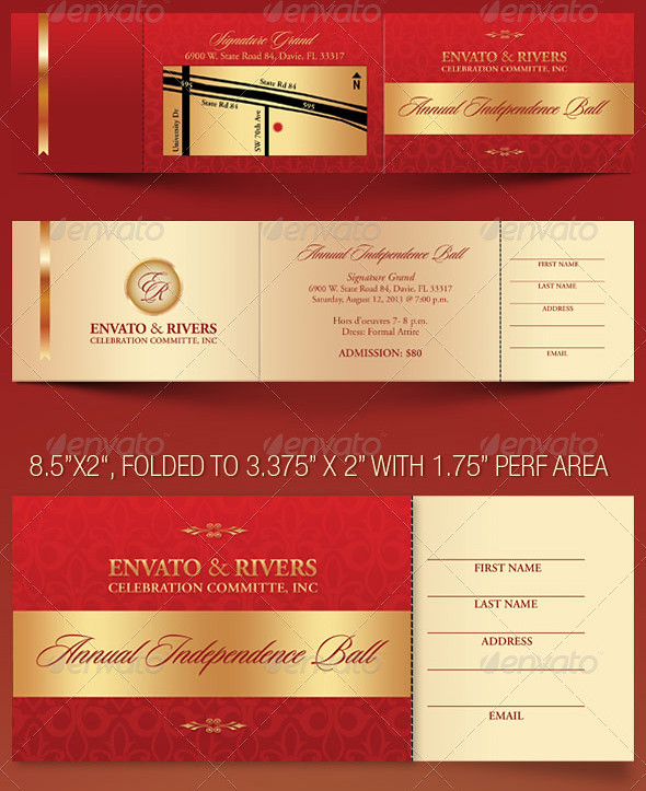 Folded Banquet Ticket Template - a photo on Flickriver