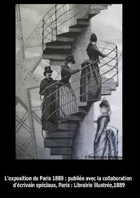 Mont e d 39 un escalier de la tour eiffel explore bibliothequ flickr - Escalier de la tour eiffel ...