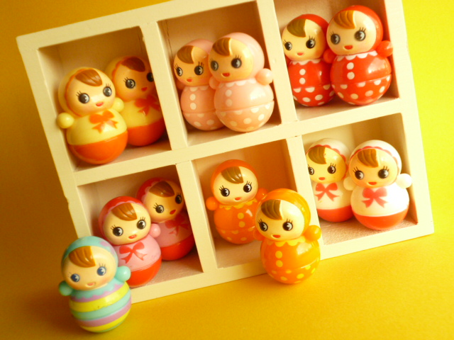 Kawaii Cute Baby Miniature Roly Poly Japanese Toys