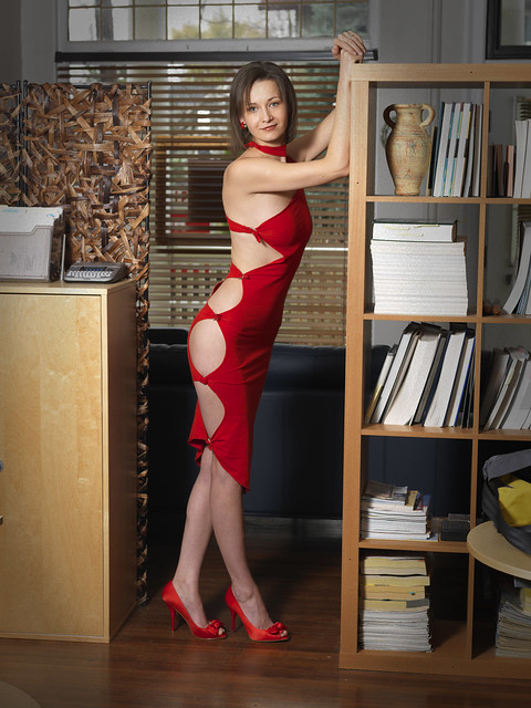 Justyna in Red Dress 0793