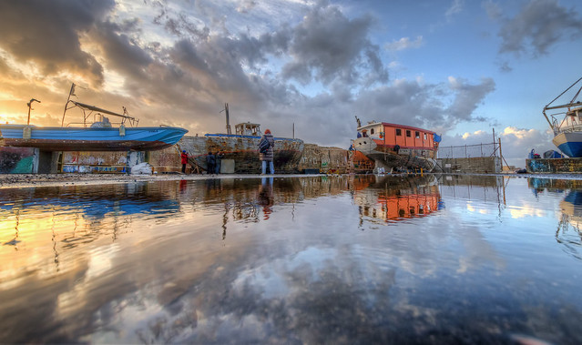 HDR Reflections, Jaffa Port, Israel