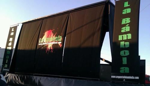 Orquesta La Bámbola 2012 - foto escenario