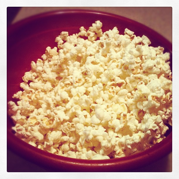 Day 42 My big red bowl o' #popcorn #makesmehappy #febphotoaday #365 #thebloomforum
