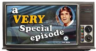"An old tv set proclaims the phrase ""a very special episode"""