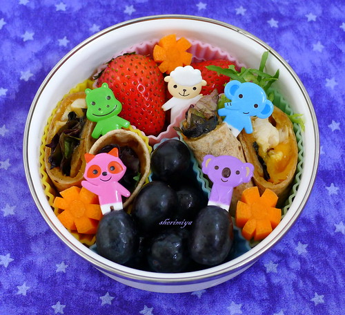 Round Wraps Friends Bento by sherimiya ♥