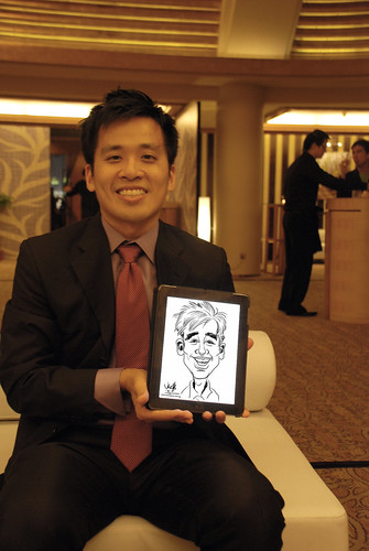 digital iPad2 live sketching for Great Eastern Dinner and Dance - 2