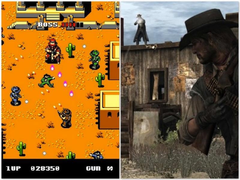 Alguém tem saudades dos video games de 8 Bits Red Dead Redemption