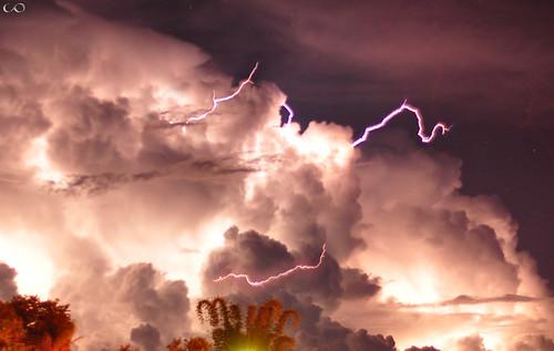 Tempestade de raios.