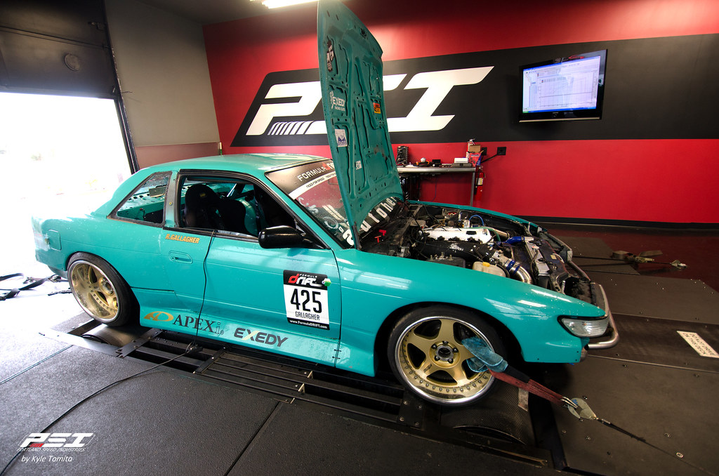 Nissan 240 on the dyno at PSI - Rolland Gallagher Racing