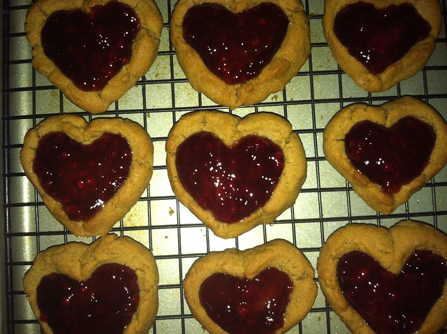 Peanut Butter Jelly Heart Shaped Cookies | Flickr - Photo Sharing!