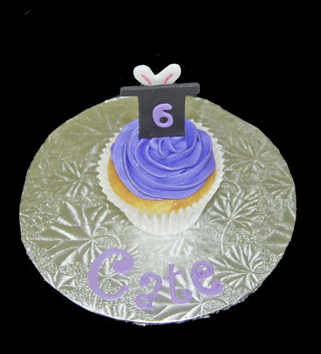 6th birthday personalized jumbo cupcake magic themed