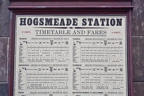 Hogsmeade Train Schedule
