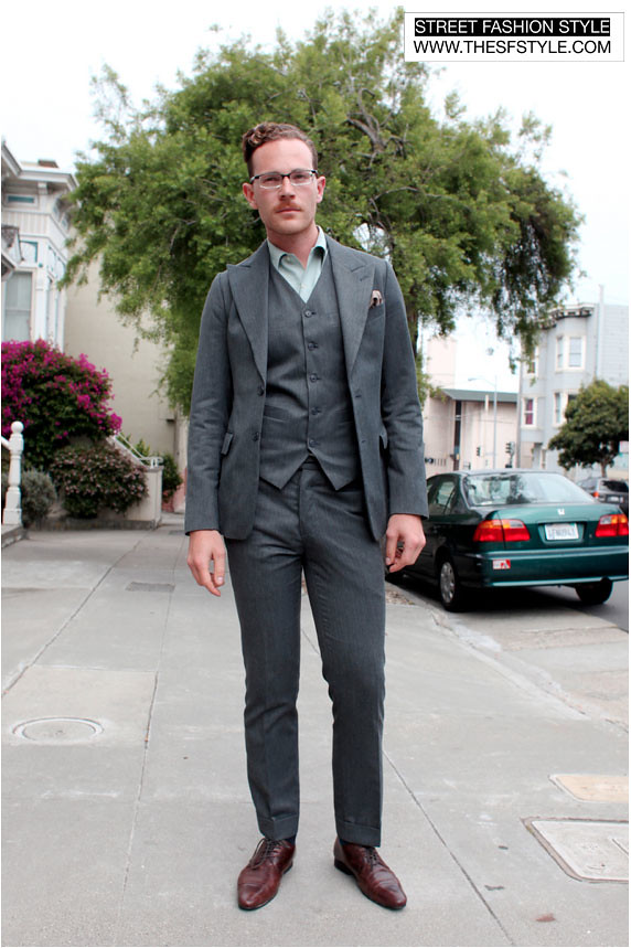 jamessuit2 three piece suit, man morsel monday,  suits, street fashion style, san francisco,