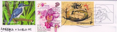 Singapore Stamps-Year of the Dragon