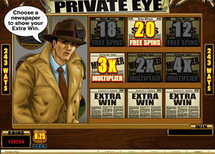 Private Eye Free Spins