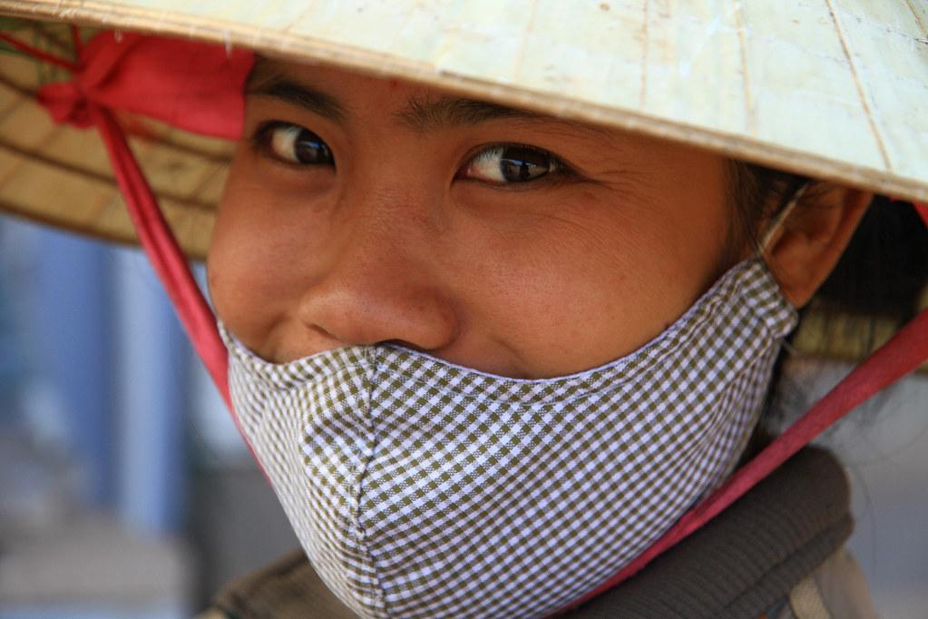 Portrait of a market woman in Laos.