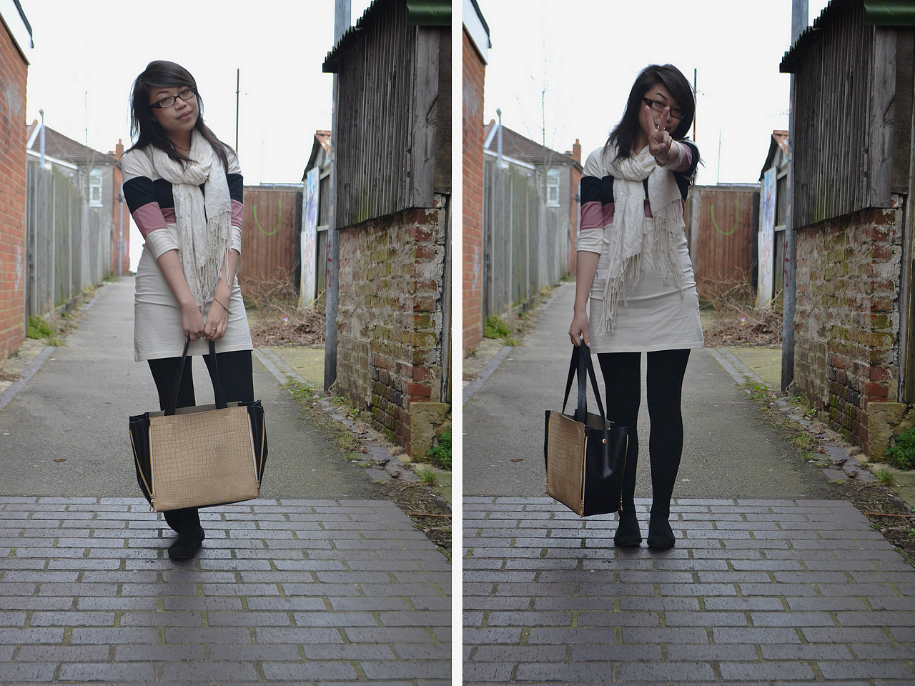 daisybutter - UK Style Blog: what i wore, style diary, annie greenabelle, ss12, scarf, fashion blogger, fairtrade fortnight