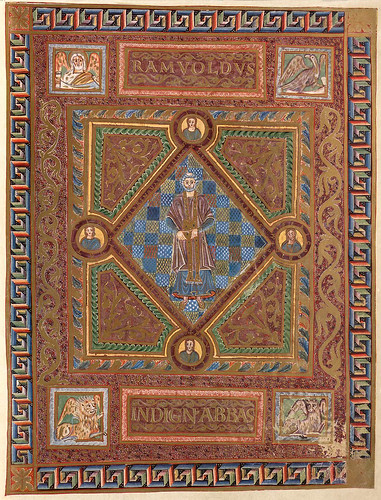 002-Retrato del abad Ramwold-Evangeliar  Codex Aureus - BSB Clm 14000-© Bayerische Staatsbibliothek