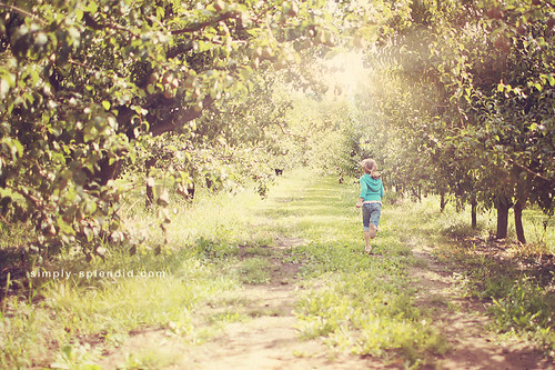 Eva through the orchard