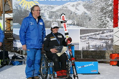Kimberly Joines placed first on her birthday in World Cup slalom in Arta Terme, Italy.