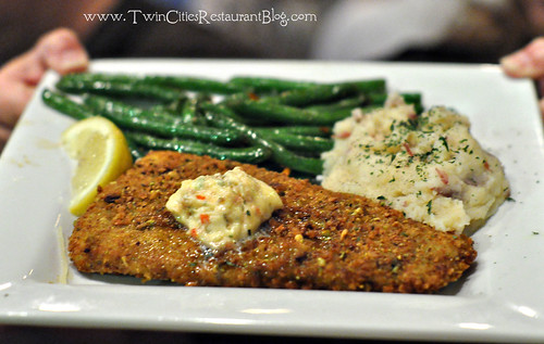 Pistachio Crusted Halibut at Rudys Redeye Grill ~ White Bear Lake, MN