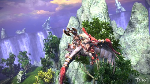 Pic of Tera character flying on a unicorn